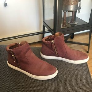 Kenneth Cole gentle souls suede high top sneakers